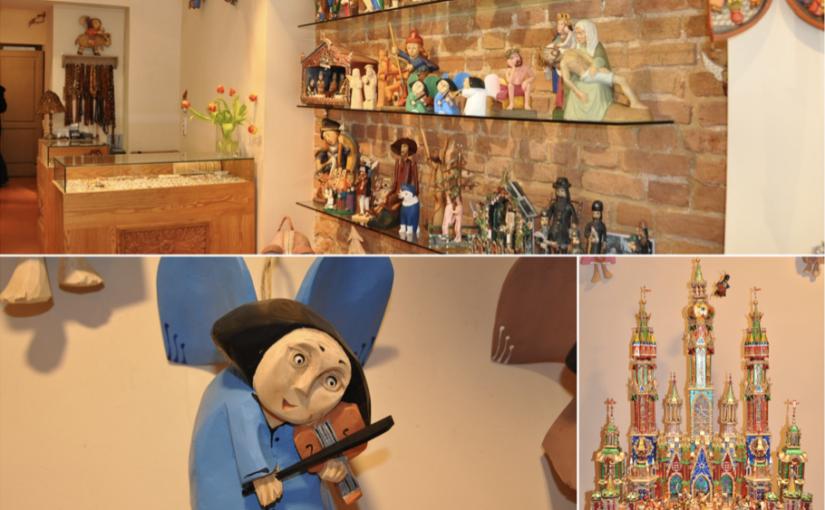 Drewniane ręcznie produkowane anioły i szopki bożonarodzeniowe idealne na prezent